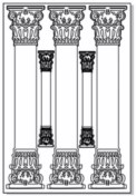 Greek columns etched 100 x 150  sold 3's